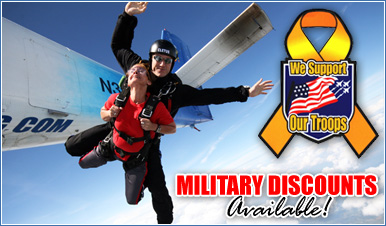 Skydiving in Mount Laguna California
