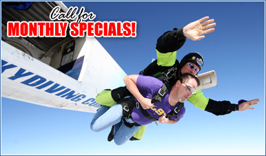 Skydiving in Rainbow California